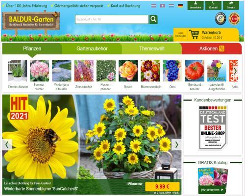 Baldur Pflanzen-Versand im Test-Vergleich mit der Bestnote: Gut ausgezeichnet! - Preisgünstig Pflanzen verschicken