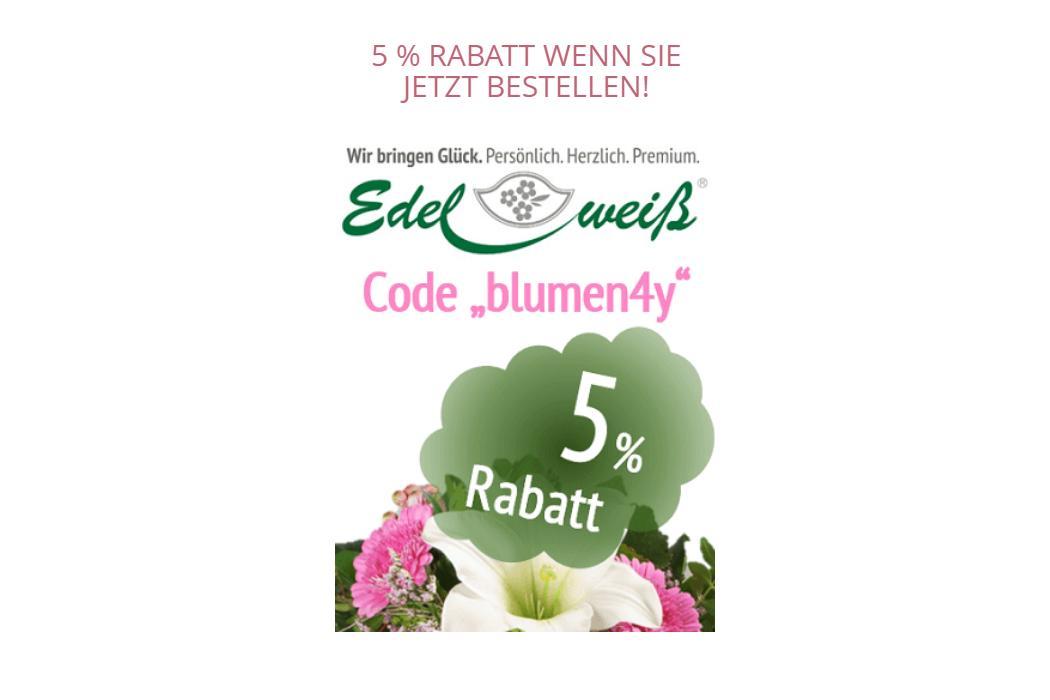 Edelweiss Bestellgutschein 5% Rabatt + kostenloser Versand